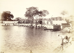 Ghat on the Mana Sarovar Tank, Viramgam 1949